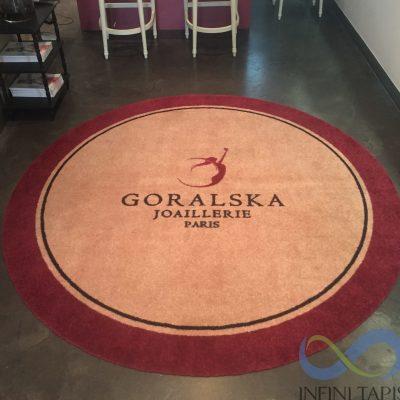 Tapis logo rond sans bord Goralska